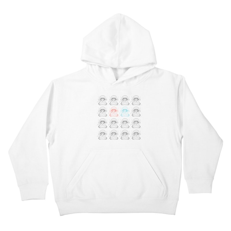 laser cat Kids Pullover Hoody by velcrowolf