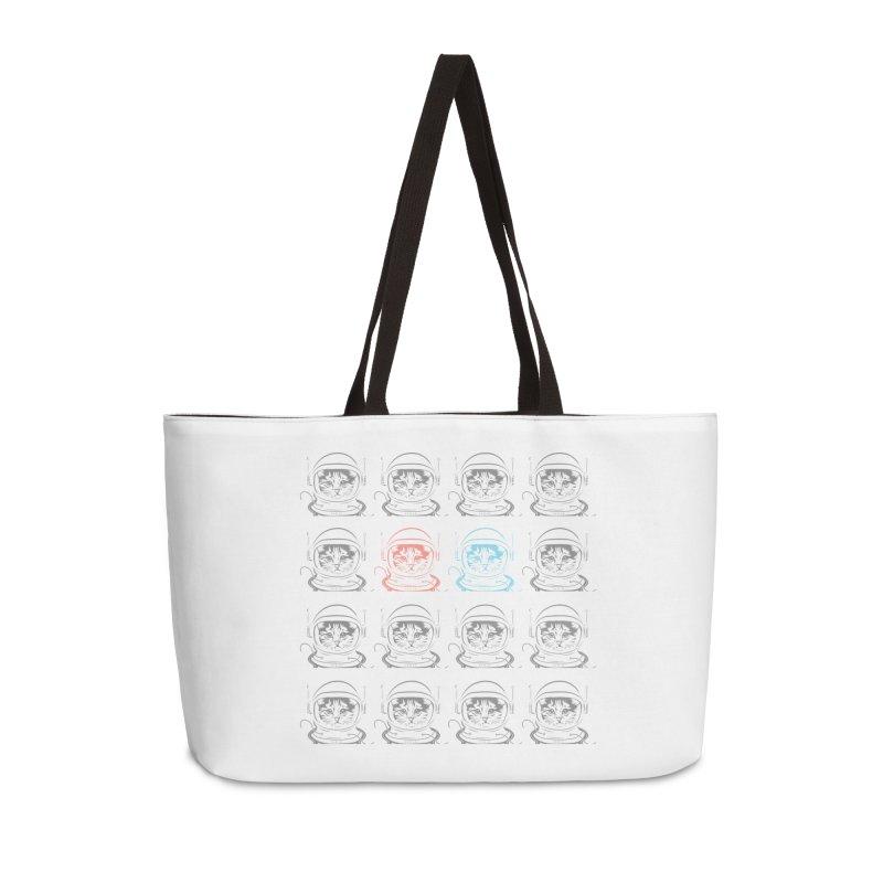 laser cat Accessories Weekender Bag Bag by velcrowolf