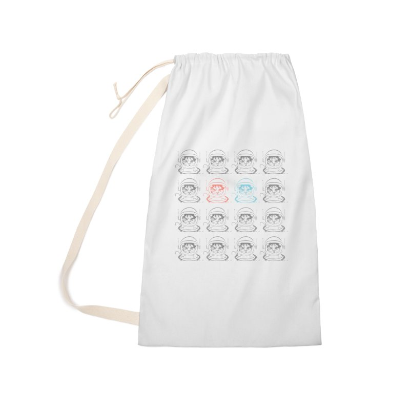 laser cat Accessories Laundry Bag Bag by velcrowolf