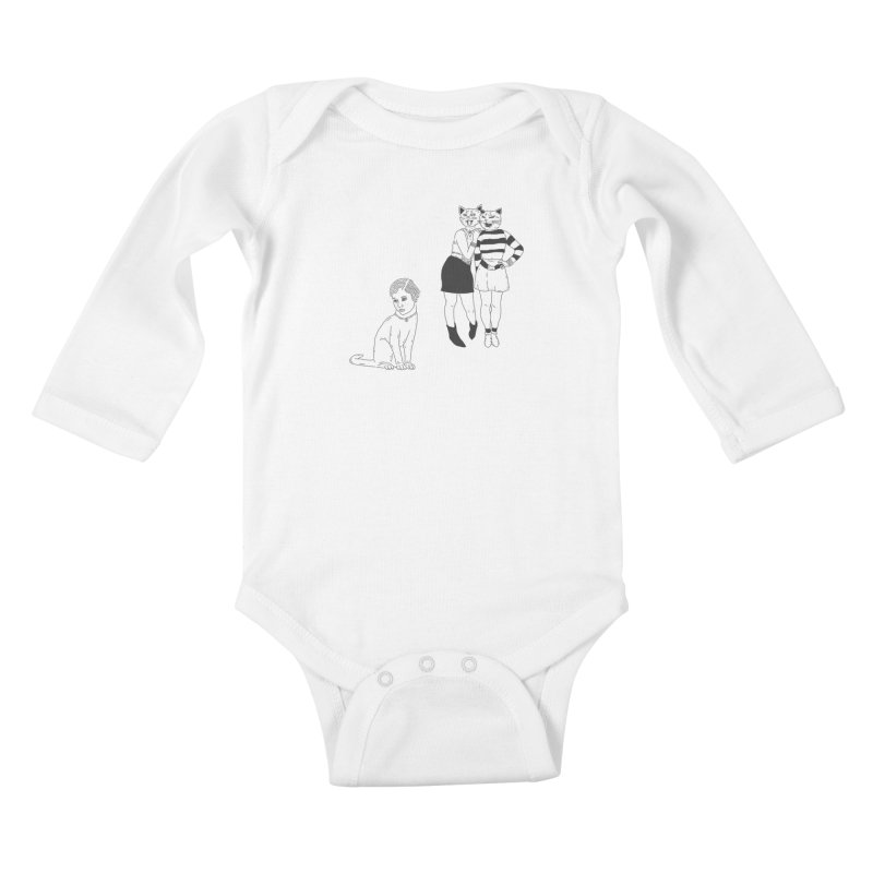 Cat Bullies Kids Baby Longsleeve Bodysuit by velcrowolf