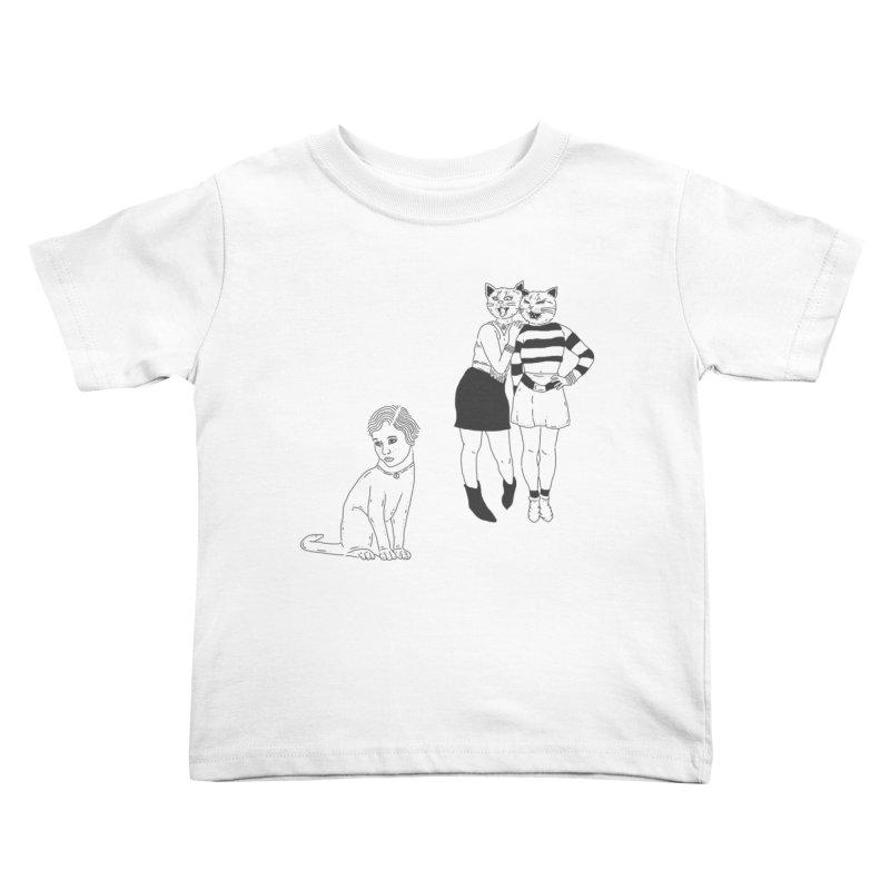 Cat Bullies Kids Toddler T-Shirt by velcrowolf