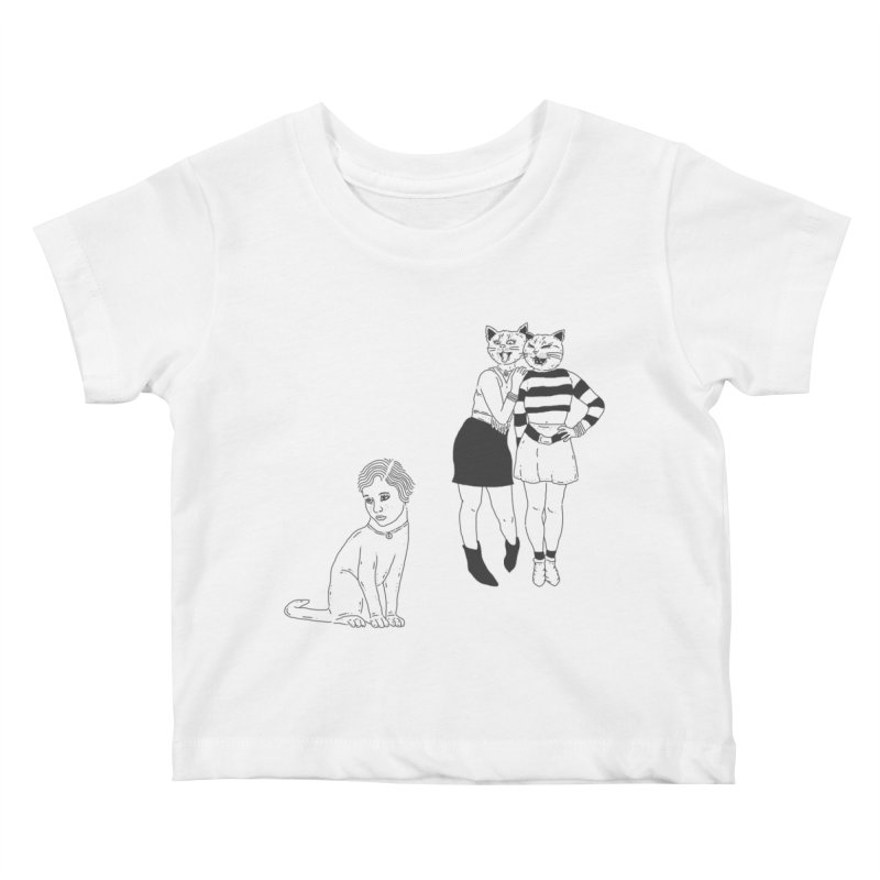 Cat Bullies Kids Baby T-Shirt by velcrowolf