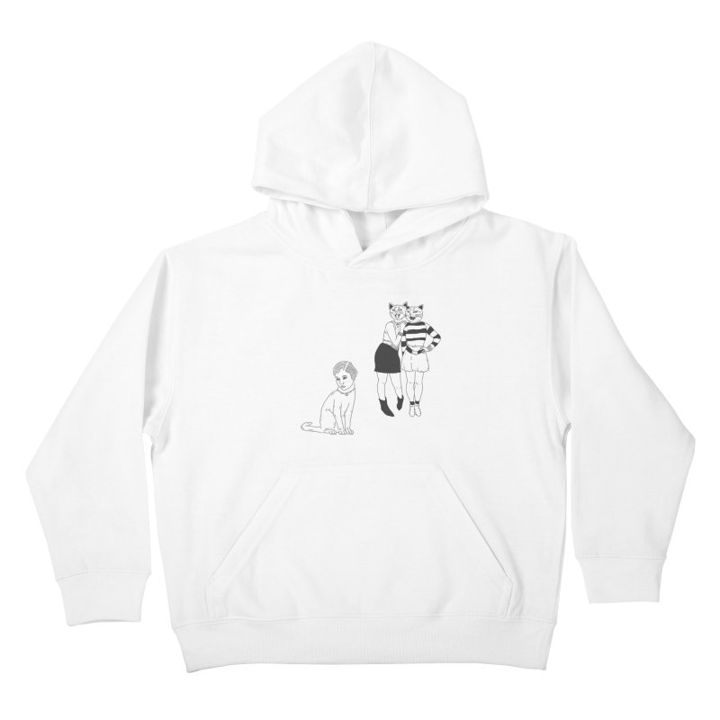 Cat Bullies Kids Pullover Hoody by velcrowolf