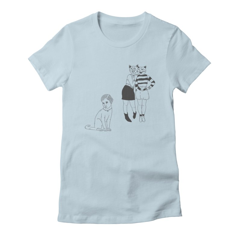 Cat Bullies Women's Fitted T-Shirt by velcrowolf