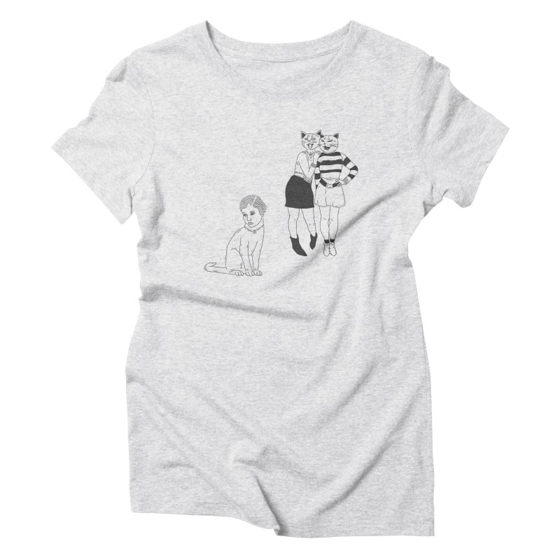 Cat Bullies Women's Triblend T-Shirt by velcrowolf