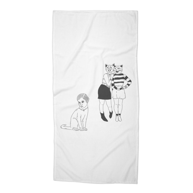 Cat Bullies Accessories Beach Towel by velcrowolf