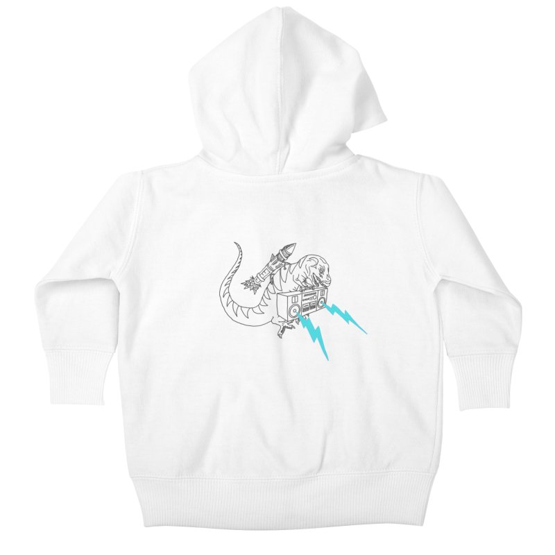 Tyranno Lightning (Light Blue) Kids Baby Zip-Up Hoody by velcrowolf