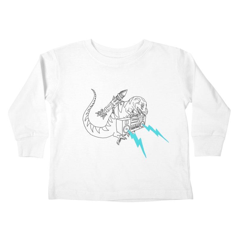 Tyranno Lightning (Light Blue) Kids Toddler Longsleeve T-Shirt by velcrowolf