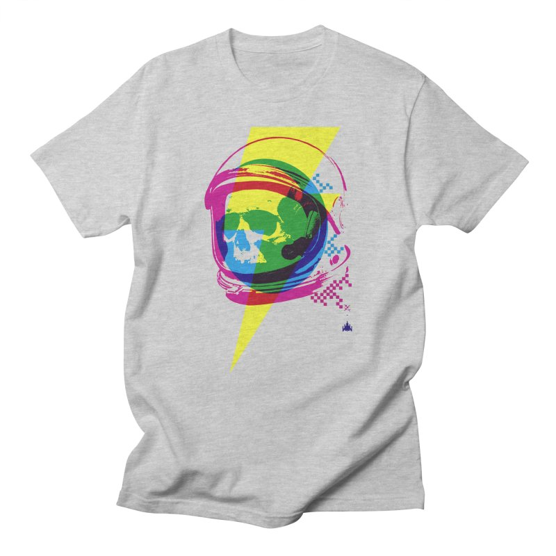 Skeletons in Spacesuits Men's Regular T-Shirt by velcrowolf