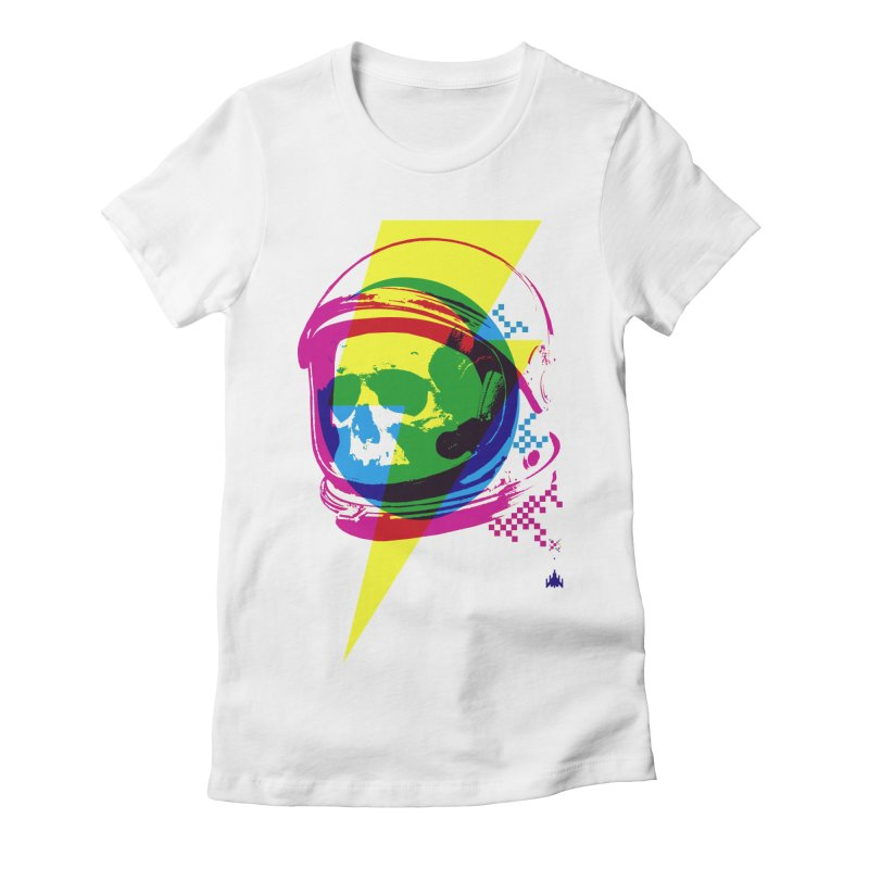 Skeletons in Spacesuits Women's Fitted T-Shirt by velcrowolf
