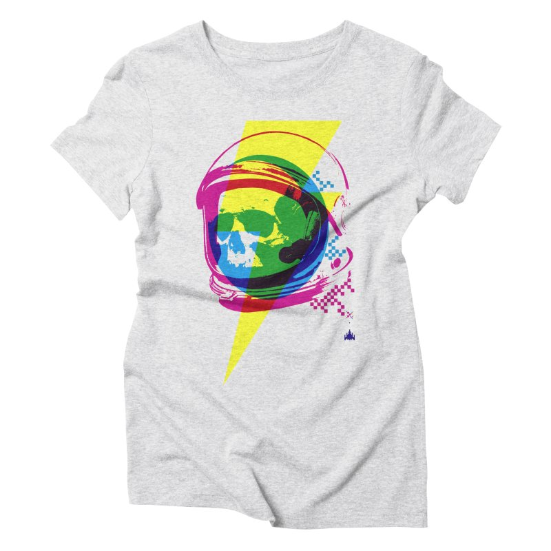 Skeletons in Spacesuits Women's Triblend T-Shirt by velcrowolf