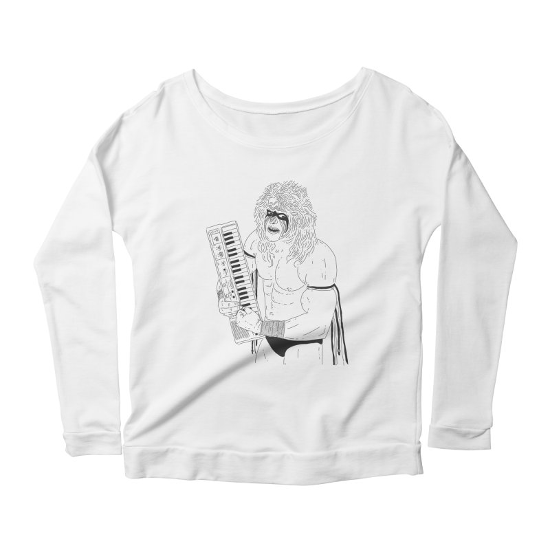 Ultimate Casiotone Warrior Women's Scoop Neck Longsleeve T-Shirt by velcrowolf