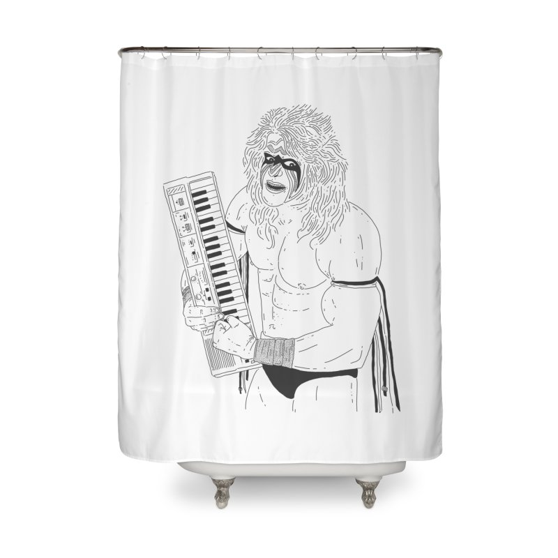 Ultimate Casiotone Warrior Home Shower Curtain by velcrowolf