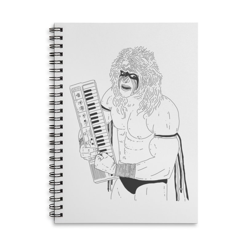 Ultimate Casiotone Warrior Accessories Lined Spiral Notebook by velcrowolf