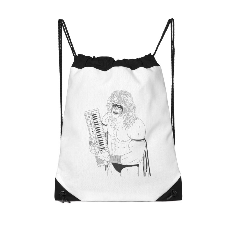 Ultimate Casiotone Warrior Accessories Drawstring Bag Bag by velcrowolf