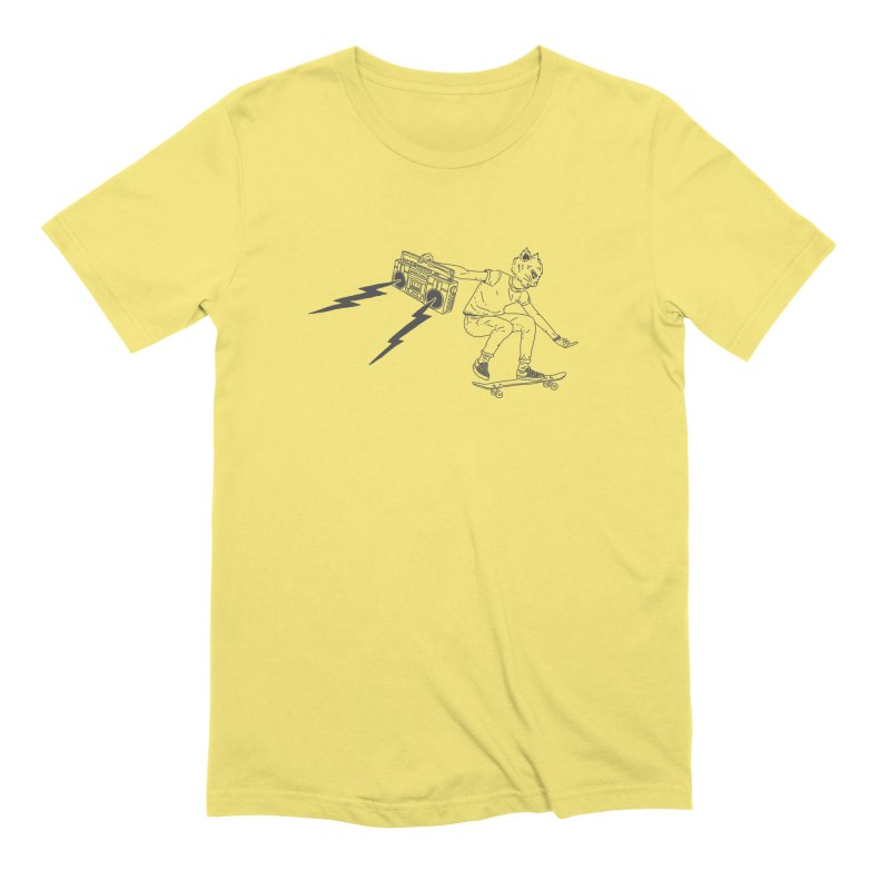 Skateboard Cat Men's Extra Soft T-Shirt by velcrowolf