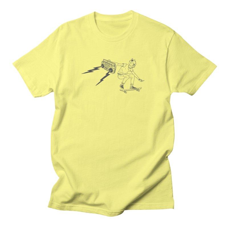 Skateboard Cat Men's T-Shirt by velcrowolf