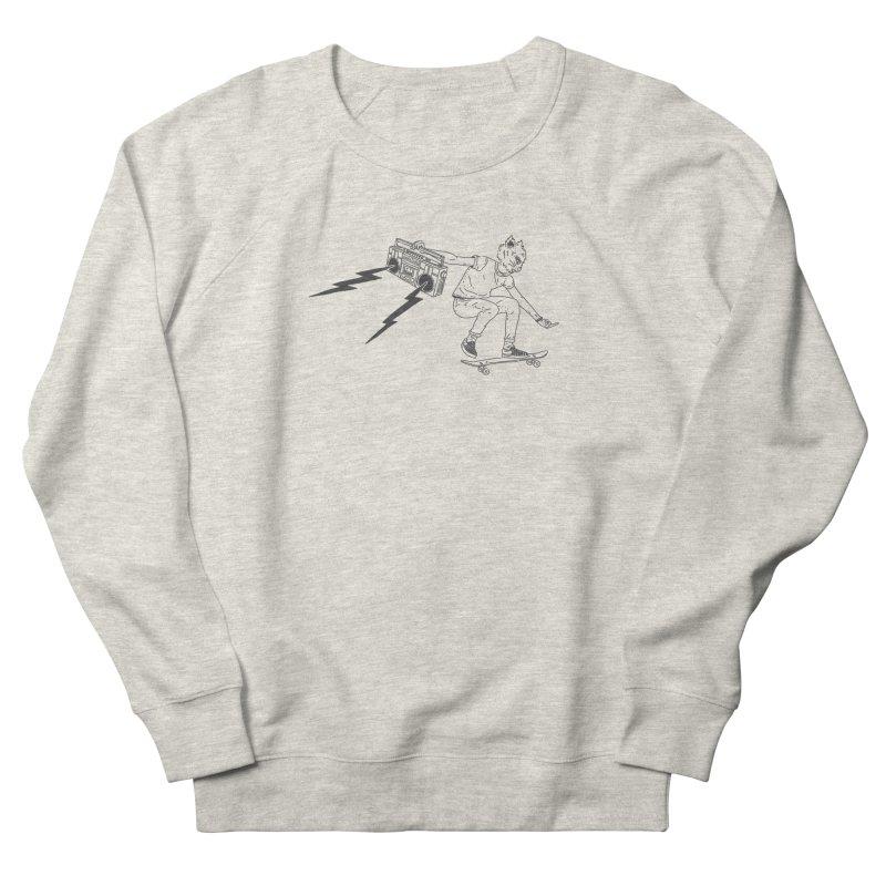 Skateboard Cat Women's French Terry Sweatshirt by velcrowolf