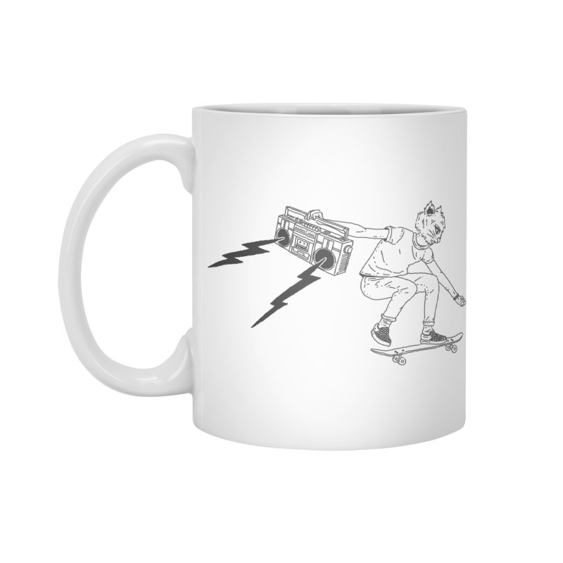 Skateboard Cat Accessories Standard Mug by velcrowolf