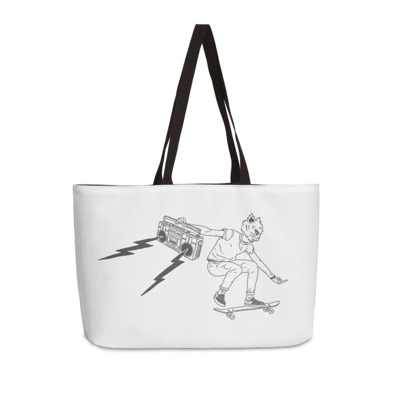 Skateboard Cat Accessories Weekender Bag Bag by velcrowolf
