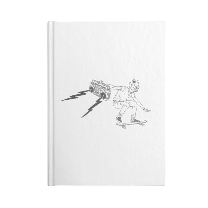 Skateboard Cat Accessories Lined Journal Notebook by velcrowolf