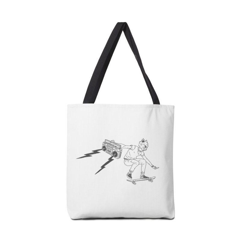 Skateboard Cat Accessories Tote Bag Bag by velcrowolf