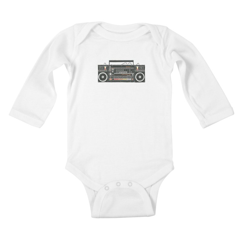 destroyer of batteries Kids Baby Longsleeve Bodysuit by velcrowolf
