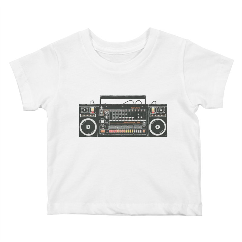 destroyer of batteries Kids Baby T-Shirt by velcrowolf