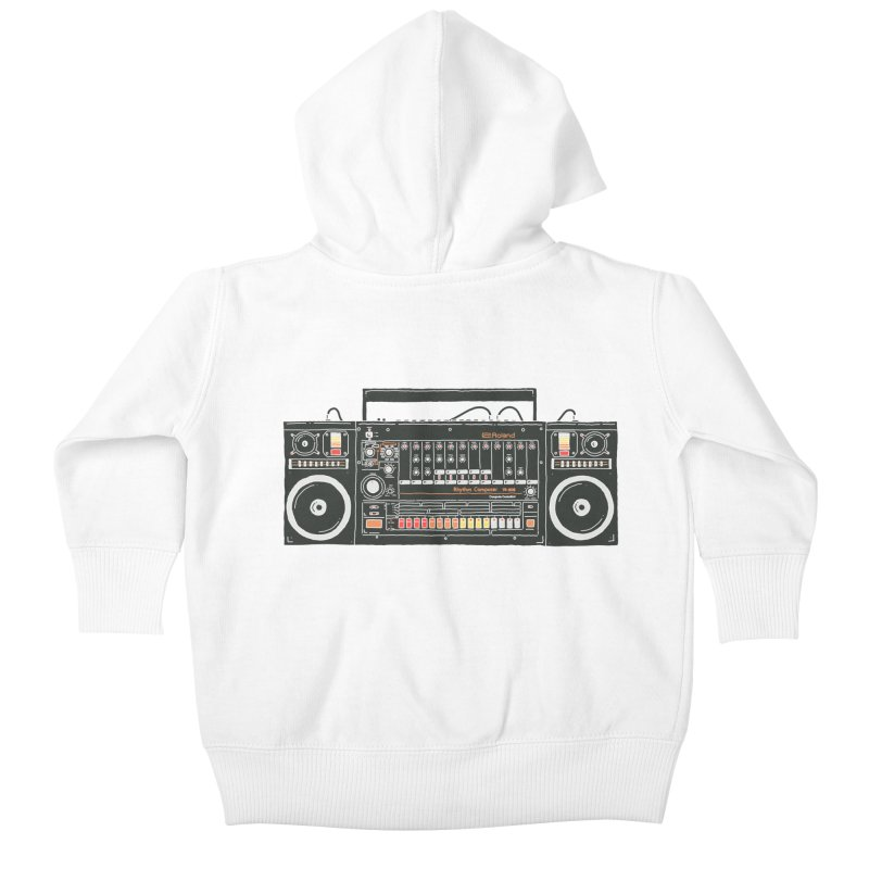 destroyer of batteries Kids Baby Zip-Up Hoody by velcrowolf