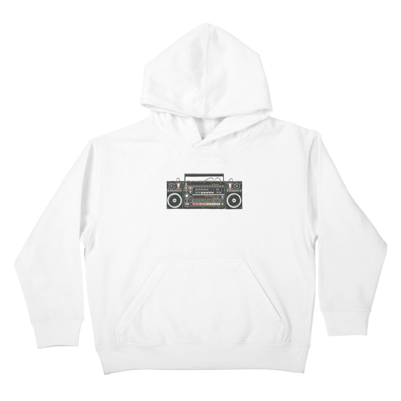 destroyer of batteries Kids Pullover Hoody by velcrowolf