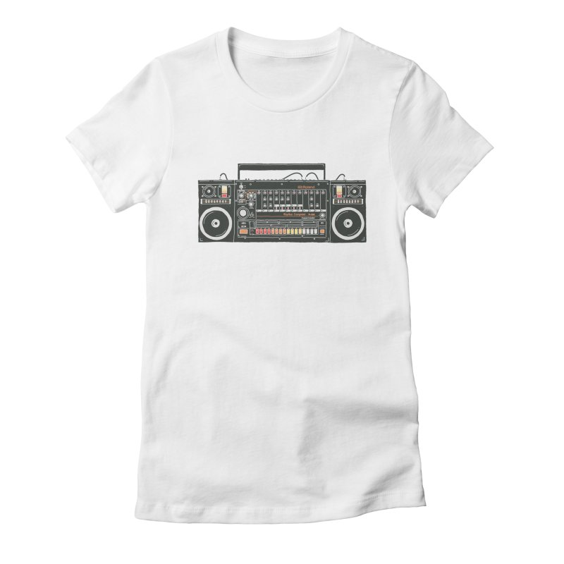 destroyer of batteries Women's Fitted T-Shirt by velcrowolf