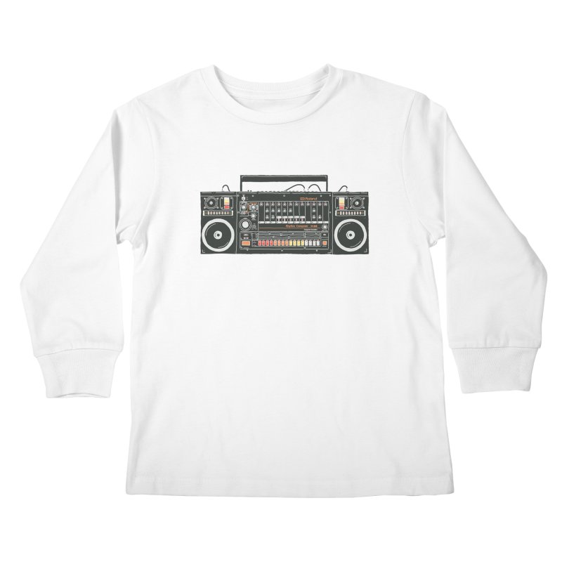 destroyer of batteries Kids Longsleeve T-Shirt by velcrowolf