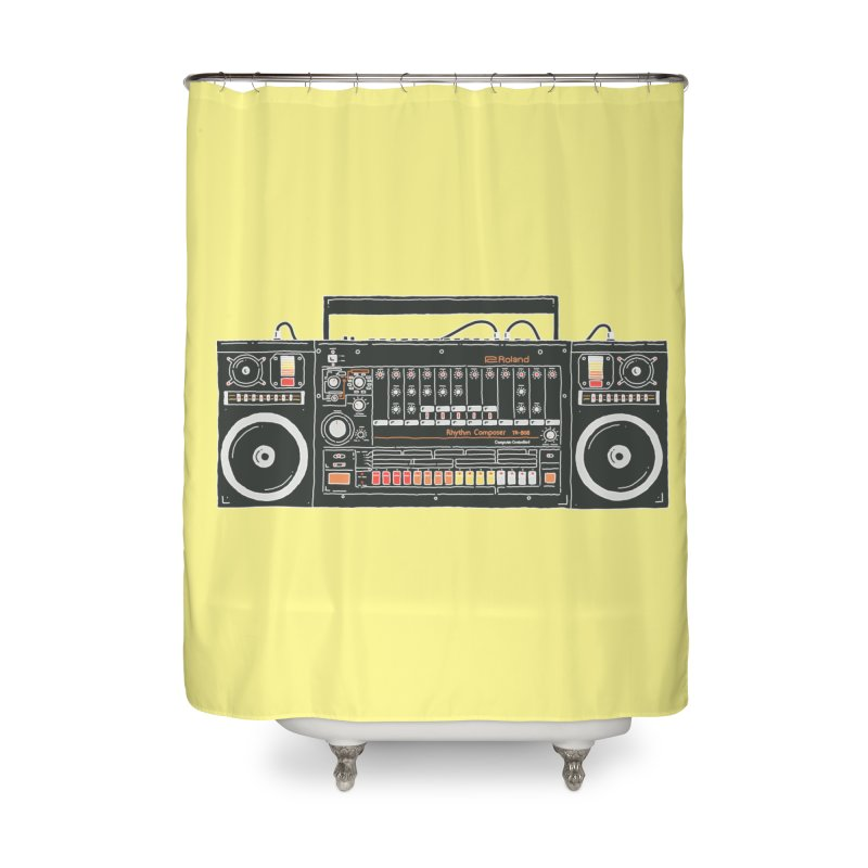 destroyer of batteries Home Shower Curtain by velcrowolf
