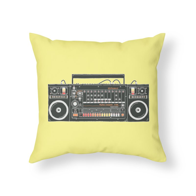 destroyer of batteries Home Throw Pillow by velcrowolf