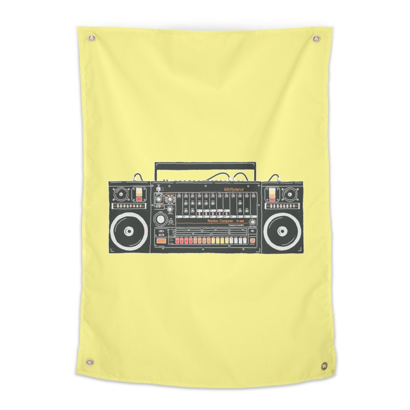 destroyer of batteries Home Tapestry by velcrowolf
