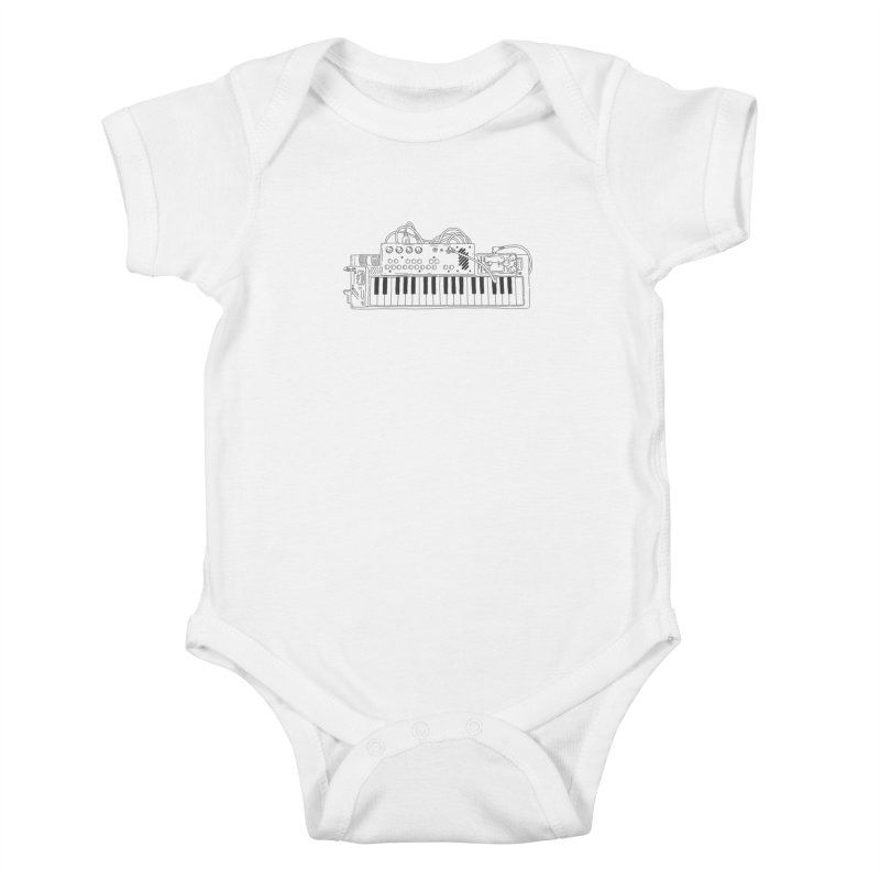 Casio Supermod (Black) Kids Baby Bodysuit by velcrowolf