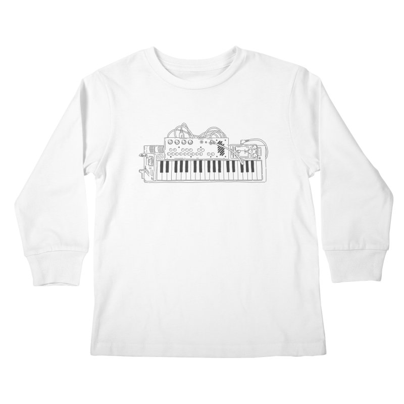 Casio Supermod (Black) Kids Longsleeve T-Shirt by velcrowolf