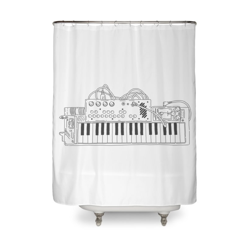 Casio Supermod (Black) Home Shower Curtain by velcrowolf