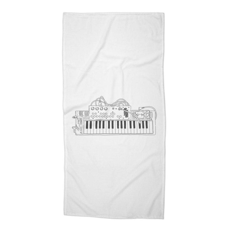 Casio Supermod (Black) Accessories Beach Towel by velcrowolf