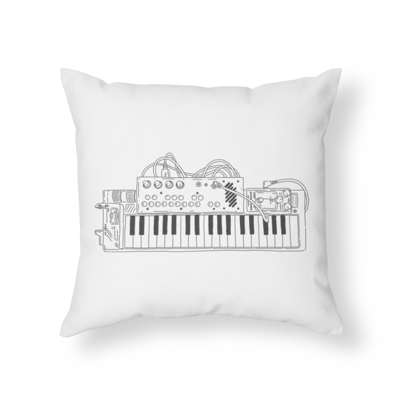 Casio Supermod (Black) Home Throw Pillow by velcrowolf