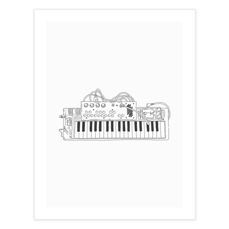 Casio Supermod (Black) Home Fine Art Print by velcrowolf