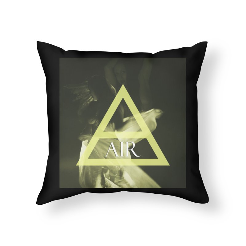 Elements Vol. 2 - Air Home Throw Pillow by Venus Aeon (clothing)
