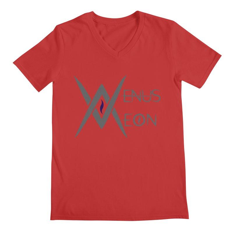 Venus Aeon logo (grey) Men's V-Neck by Venus Aeon (clothing)