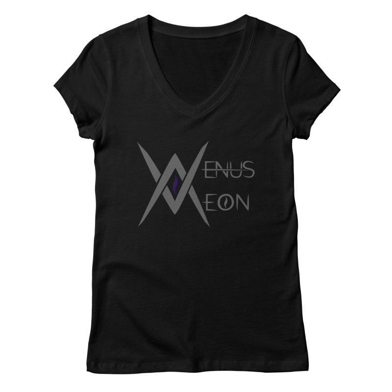 Venus Aeon logo (grey) Women's V-Neck by Venus Aeon (clothing)