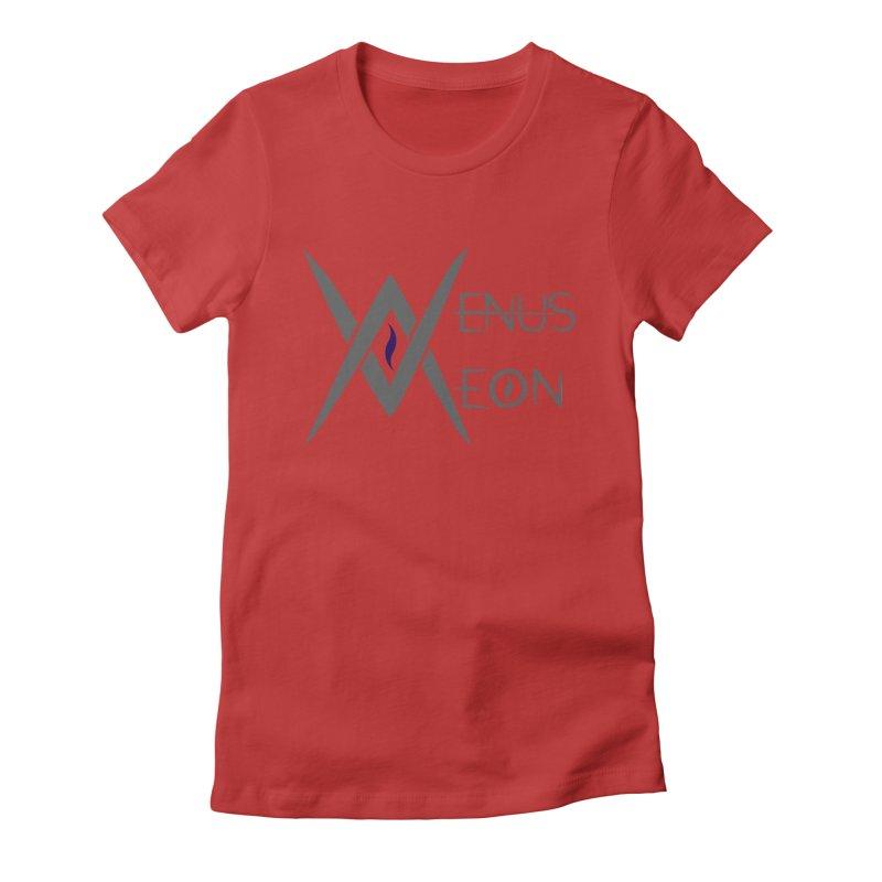 Venus Aeon logo (grey) Women's Fitted T-Shirt by Venus Aeon (clothing)