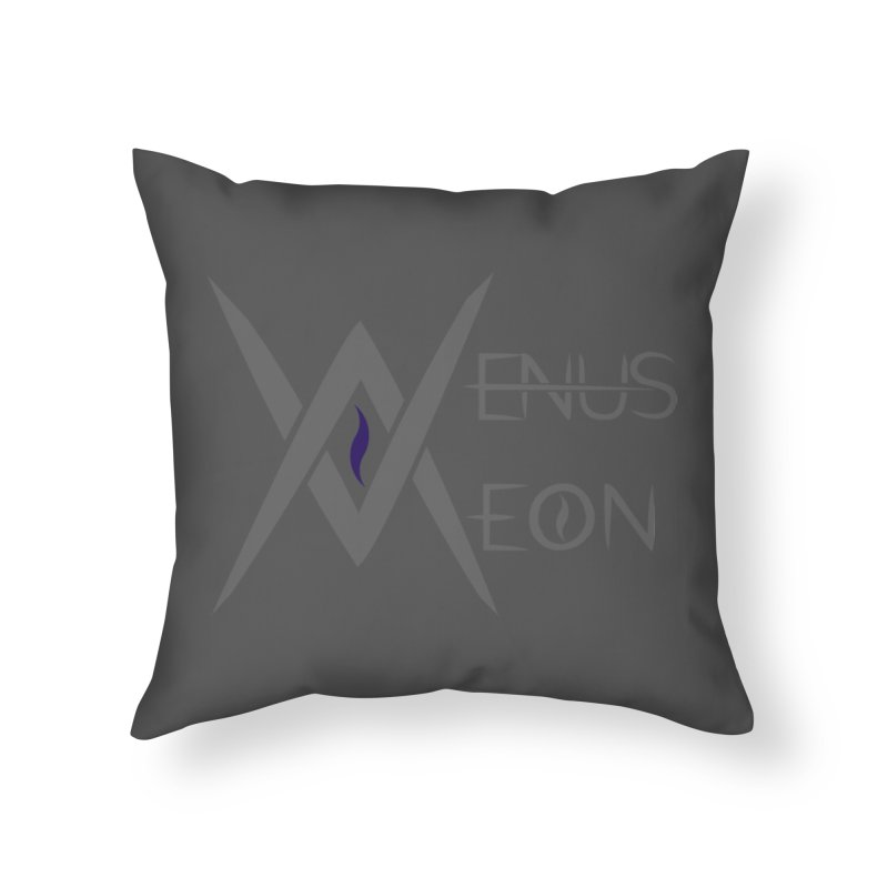 Venus Aeon logo (grey) Home Throw Pillow by Venus Aeon (clothing)