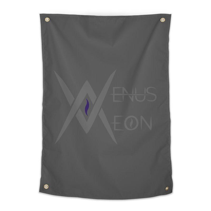 Venus Aeon logo (grey) Home Tapestry by Venus Aeon (clothing)
