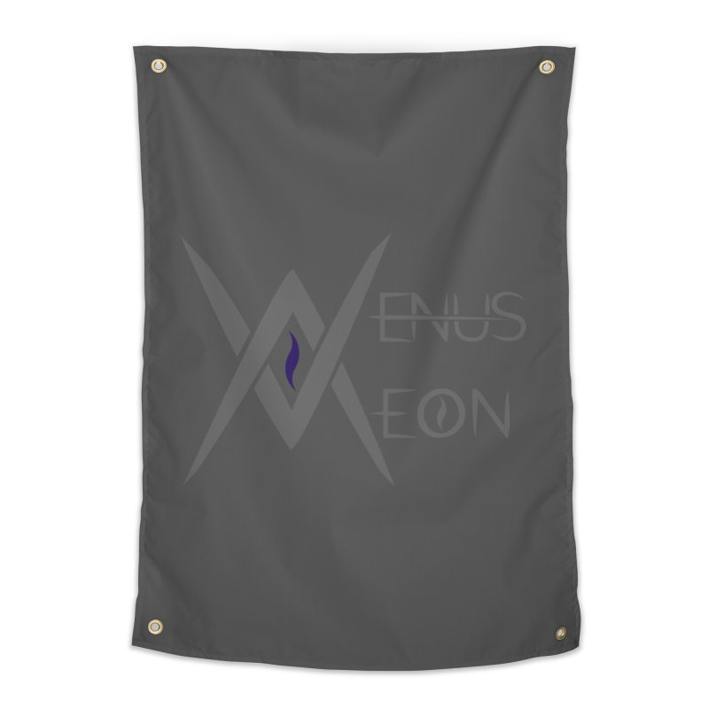 Venus Aeon logo (grey) Home Tapestry by Venus Aeon (clothing)