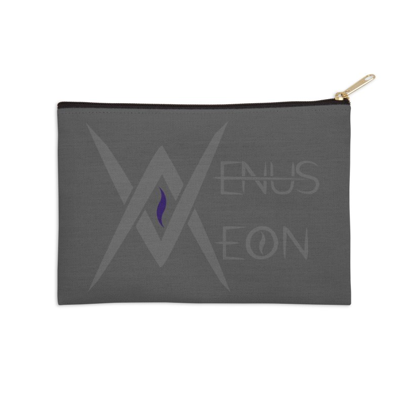 Venus Aeon logo (grey) Accessories Zip Pouch by Venus Aeon (clothing)