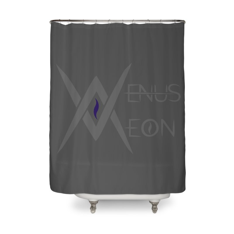 Venus Aeon logo (grey) Home Shower Curtain by Venus Aeon (clothing)